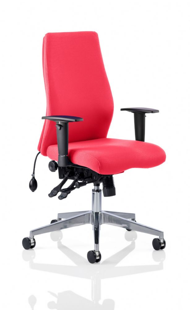 Onyx Posture Office Chair Arms Task Multi-Functional Asynchronous Mech Choice of Colours